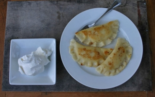 Gluten free potato and cheese pierogi