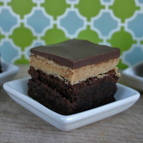 Gluten Free Peanut Butter Fudge Brownies